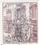 Sellos de Europa - España -  Turismo- Palacio del Marqués de Dos Aguas -Valencia-   (5)