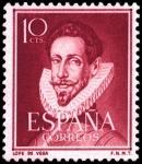Sellos de Europa - España -  España Segundo Centenario Nº 1072 ** 10c Burdeos literatos.