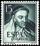 Sellos de Europa - España -  España Segundo Centenario nº 1073 ** 15c verde Oliva Literatos