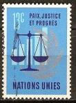 Sellos del Mundo : America : ONU : La paz, la justicia y el progreso.