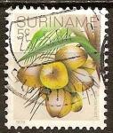 Stamps America - Suriname -  Coconuts.