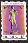 Stamps of the world : Nicaragua :  500 Aniversario de Michelangelo