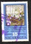 Sellos de America - Nicaragua -  Napoleón jugando el automaton ajedrez