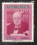 Stamps Nicaragua -  Churchill