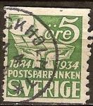 Sellos del Mundo : Europa : Suecia : 50 Aniv de Suecia Postal Savings Bank.