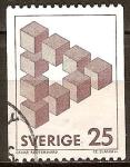 Sellos del Mundo : Europa : Suecia : Figuras imposibles.