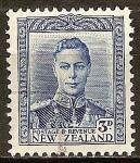 Sellos del Mundo : Oceania : Nueva_Zelanda : El rey Jorge VI.
