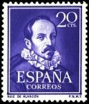 Stamps Spain -  ESPAÑA SEGUNDO CENTENARIO N  1074 ** 20C VIOLETA  LITERATOS
