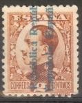 Stamps Spain -  ESPAÑA 593 ALFONSO XIII SOBRECARGADOS