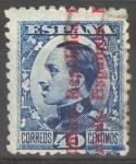 Stamps Spain -  ESPAÑA 600 ALFONSO XIII SOBRECARGADOS