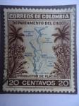 Sellos de America - Colombia -  Productor de Platino - Departamento del CHocó