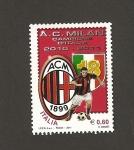 Stamps Italy -  A.C. Milán, campeón temporada 2010-2011