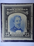 Stamps of the world : Colombia :  Comisión Corográfica, Don José Jerónimo Triana-1850-1950
