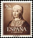 Sellos de Europa - España -  ESPAÑA SEGUNDO CENTENARIO Nº 1092 ** 50C CASTAÑO ISABEL LA CATOLICA