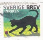 Stamps Sweden -  Gato negro