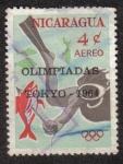 Stamps Nicaragua -  Olimpiadas Tokyo 1964