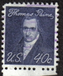 Stamps United States -  Thomas Paine
