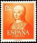 Sellos de Europa - España -  ESPAÑA SEGUNDO CENTENARIO Nº 1095 ** 1,50 P NARANJA