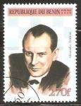 Stamps Benin -  CAMPEÒN  DE  AJEDREZ.   ALEXANDER  ALEKHINE