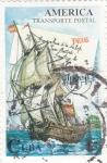 Sellos de America - Cuba -  Transporte postal marítimo