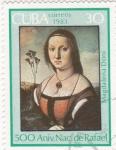 Stamps Cuba -  retrato de Magdalena Doni
