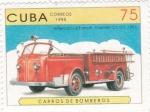 Stamps Cuba -  Carro de bomberos
