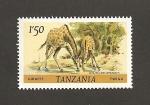 Stamps Tanzania -  Jirafas
