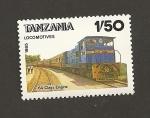 Stamps Tanzania -  Locomotoras