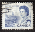 Stamps Canada -  Reina Isabel II