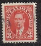 Sellos de America - Canadá -  King George VI
