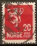 Sellos del Mundo : Europa : Noruega : León tipo II.