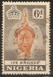 Stamps of the world : Nigeria :  CABEZA   OLOKUN   EN   BRONCE
