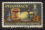 Sellos de America - Estados Unidos -  Farmacia - Mortero y maja, cuenco de Hygeia