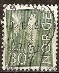 Sellos de Europa - Noruega -  Oído del trigo y el bacalao del Atlántico.