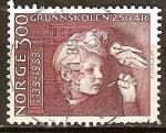 Sellos del Mundo : Europa : Noruega : 250a Aniv de Escuelas Primarias.
