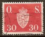Sellos de Europa - Noruega -  Offentlig Sak-Sin marca de agua.