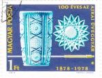 Stamps Hungary -  100 años de vidrieras en Hungría 1878-1978