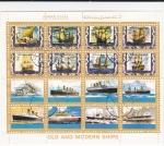 Stamps United Arab Emirates -  Barcos antiguos y modernos