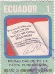 Stamps Ecuador -  Promulgación de la carta Fundamental- Un año de gobierno1967-1968