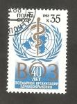 Stamps Russia -  5479 - 40 anivº de la Organización Mundial de la Salud