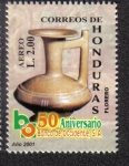 Stamps of the world : Honduras :  50 Aniversario Banco de Occidente S.A.