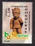 Stamps of the world : Honduras :  50 Aniversario Banco de Occidente S.A.