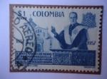 Stamps of the world : Colombia :  Scott/Col: C316 - Centenario de Monseñor Carrasquilla .Rector del Colegio Mayor de Nuestra Señora de