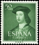 Sellos de Europa - España -  ESPAÑA SEGUNDO CENTENARIO Nº 1106 ** 50C VERDE FERNANDO EL CATOLICO