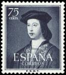 Sellos de Europa - España -  ESPAÑA SEGUNDO CENTENARIO Nº 1107 **75C AZUL OSCURO FERNANDO EL CATOLICO