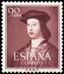 Sellos de Europa - España -  ESPAÑA SEGUNDO CENTENARIO Nº 1108 ** 90C LILA ROJIZO FERNANDO EL CATOLICO