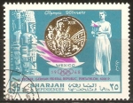 Stamps United Arab Emirates -  JUEGOS  OLÌMPICOS  MEXICO  1968.   I.  BECKER  CAMPEÒN  EN  EL  PENTATLON