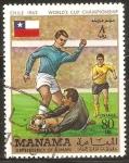 Stamps United Arab Emirates -  CAMPEONATO   MUNDIAL   DE  FUTBOL   CHILE  1962