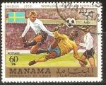 Sellos de Asia - Emiratos Árabes Unidos -  CAMPEONATO   MUNDIAL   DE  FUTBOL  SUECIA  1958