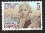 Stamps Spain -  Defensa Nacional de Tenerife siglo XVIII